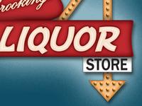 Vintage Liquor Sign
