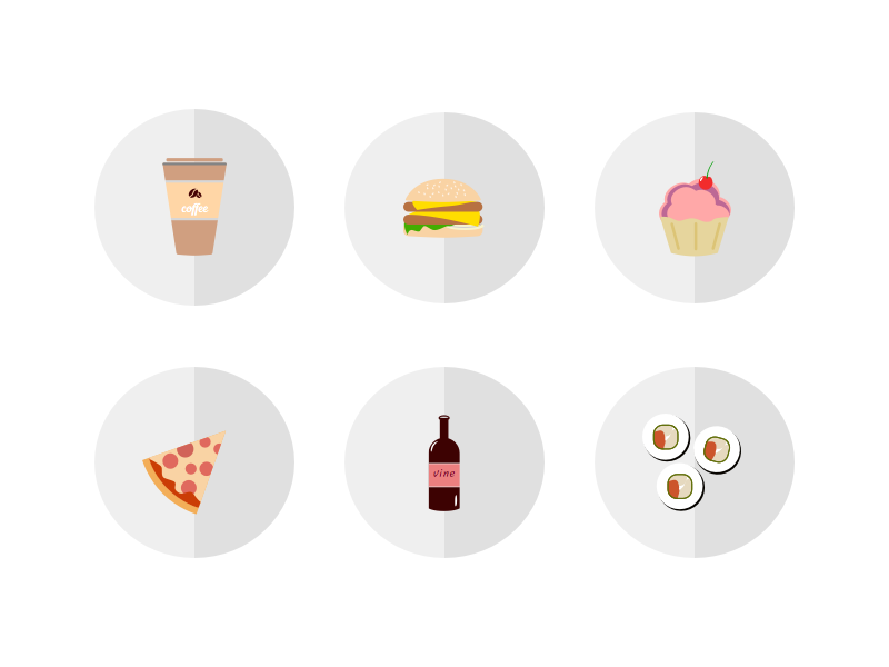 Icons For Food Delivery App order shop yummy ios flat ui logo icons tasty delivery food dish