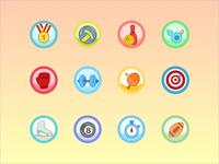 Flat Icon Set - Sport