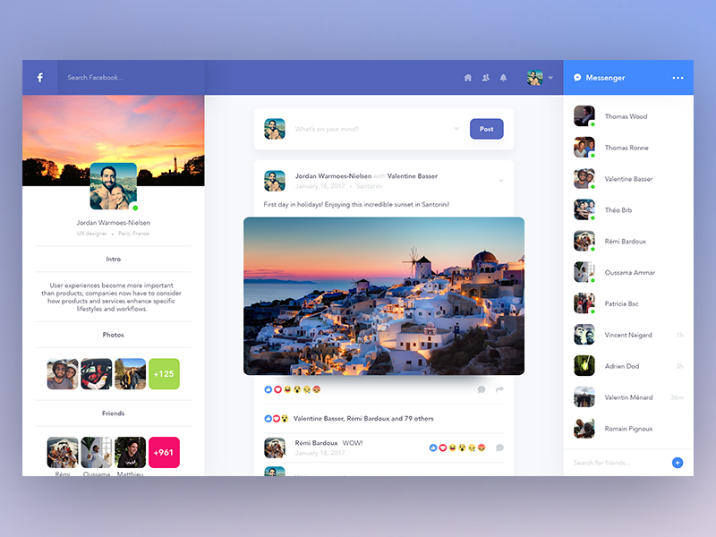Facebook profile redesign web ux ui redesign profile facebook