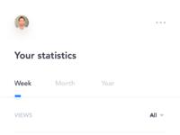 Dribbble statistics