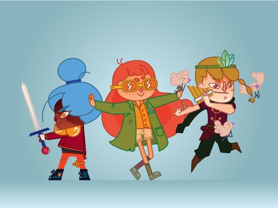 Rainbowfriends prince researcher warrior actionshot characterdesign illustration