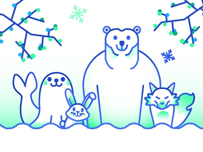 Christmas Song kids animal christmas fox bunny snow icebear seal illustration singalong artwork animation