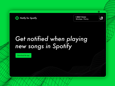 Website Homepage Design for Music App - Spotify landing lofi design minimal flat design flat spotify music app app music ui design page design home page homepage website design web design website