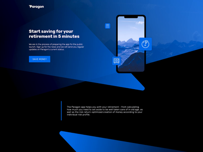 Landing Page UI Design for Financial App flat home page homepage home financial app finance app financial finances finance ui design uidesign ui  ux uiux ui landing page design landing design landing page landingpage landing