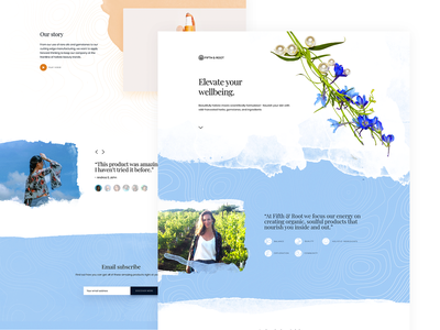 Homepage UI Design for Wellness Website flat watercolour watercolor website concept website design web design webdesign websites web website wellness ui design uidesign ui  ux uiux ui home screen home page homepage home