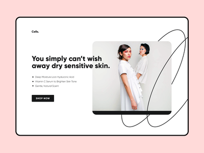 Landing Page for Cosmetics Homepage UI Website Design web design webdesign website web ui design uidesign ui  ux uiux ui homepage design home screen home page homepagedesign homepage home cosmetic landing page design landingpage landing page landing