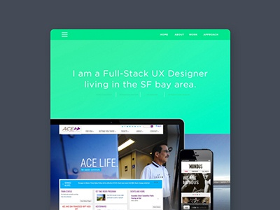Portfolio hi-fi mock up mock up visual design web design portfolio