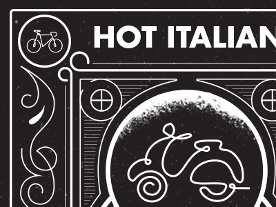 Hot Italian Playing Cards icons texture detail