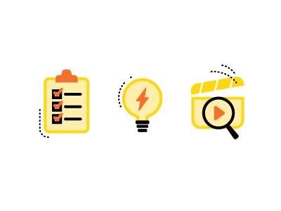 Film Icons illustration tasks film icons