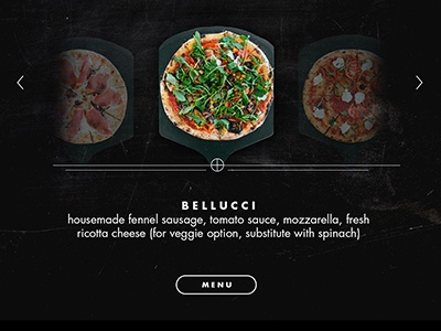 Menu Attract Module hover menu hero ui pizza