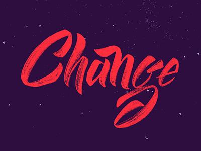 Change type texture script brush lettering lettering