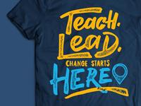 Teach For America Lettering
