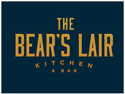 The Bear's Lair Logo  comp bar kitchen typograph logo