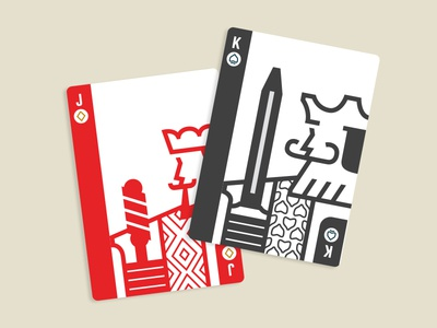 King Jack Offsuit icons deck cards minimal illustration playing cards