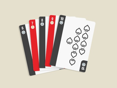 Playing Cards Straight deck gamble poker straight cards icons