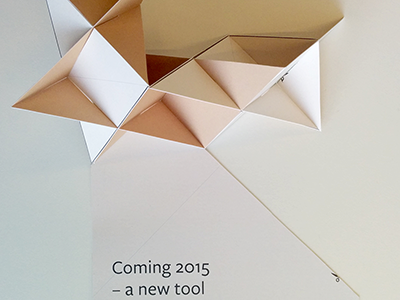 Folding paper flyer flyer origami modular paper toy print podio