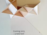 Folding paper flyer