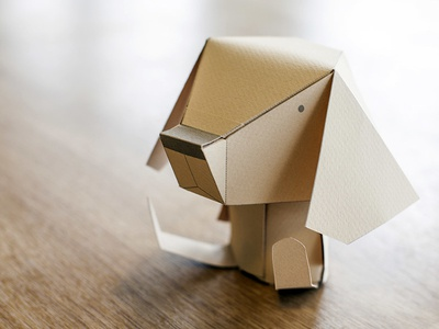 Our beagle paper toy origami paper toy