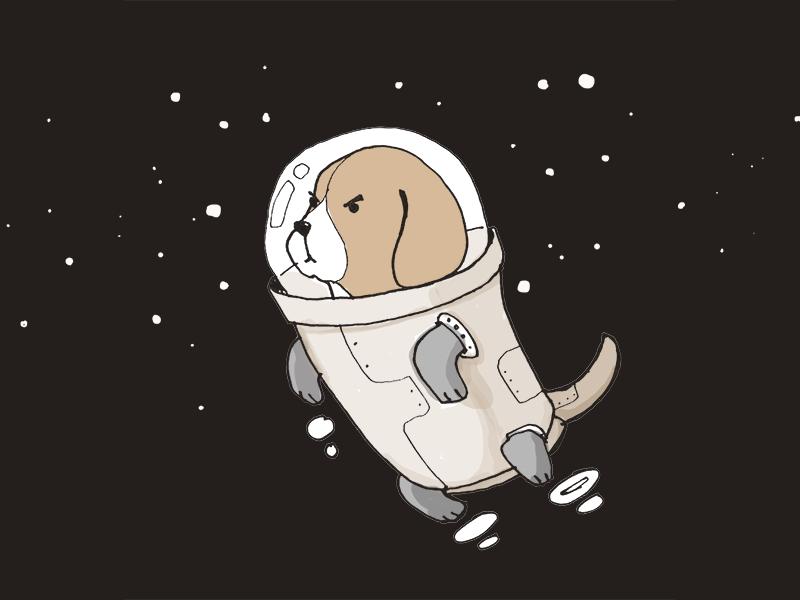 Determined Beagle  newsletter comic illustration beagle
