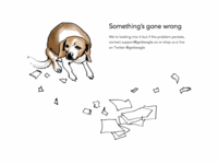 Beagle error page