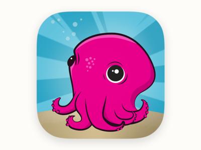 Stubby Squid Appicon squid edtech education app stubbysquid app icon