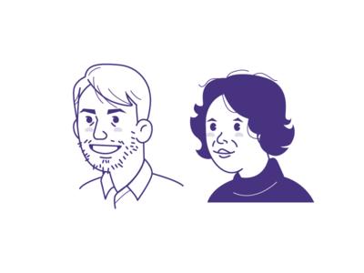 Profile picture set company employee profile picture vector avatar