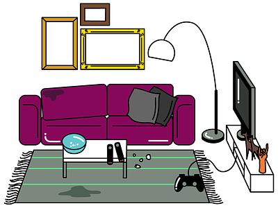 Living Room game setting living room