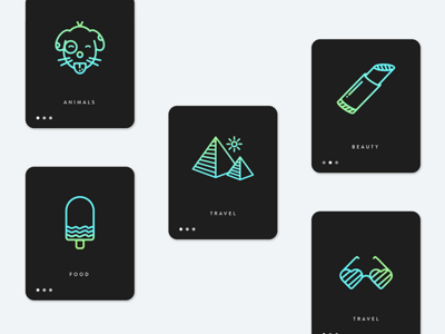 Icons & Animations minimal icons ui ux interactive design app animations app icons