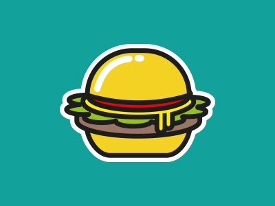 Thanksgiving Burger Sticker creative burger doodle graphic art design sticker