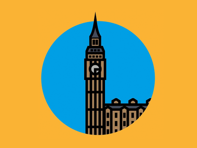 Big Ben thicklines london bigben art awesome doodle illustration vector design