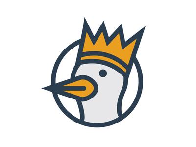 SupMedSup thicklines icon king bird duck media social logo