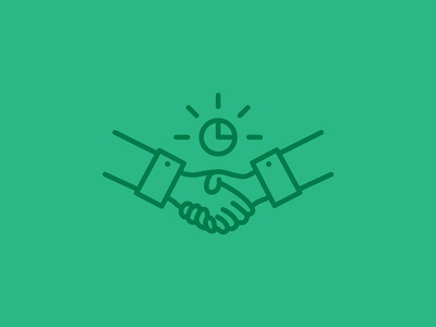Business time clock time business handshake hands icon