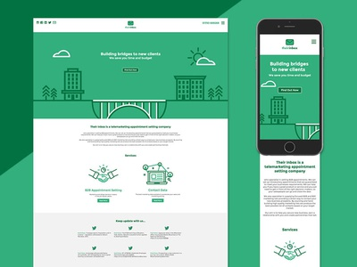 Their Inbox design icons envelope logo bridge vectors b2b business website