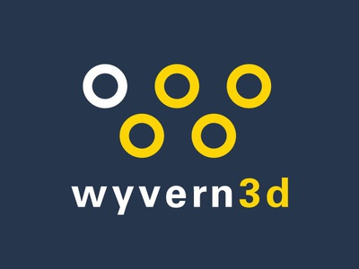 Wyvern3d Logo virtual reality vr 3d circles w logo