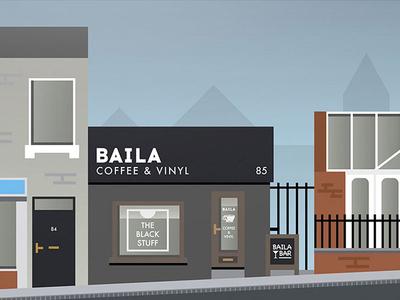 Baila Coffee Artwork swindon vector building town illustration coffee
