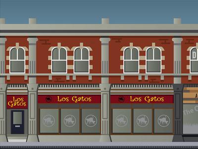 Los Gatos Artwork tapas vector town swindon illustration food building