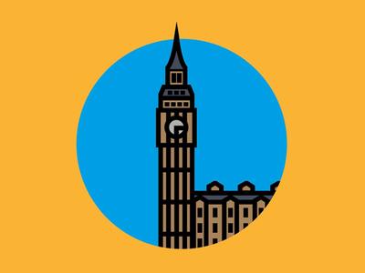 Big Ben illustator build vector london big ben