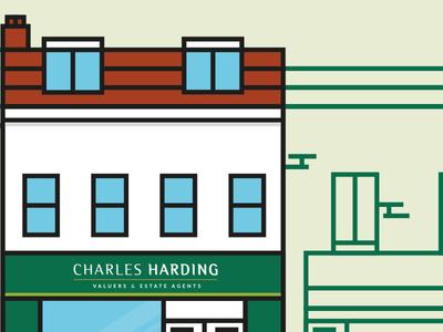Charles Harding Graphic illustation design icons building vectors b2b business website