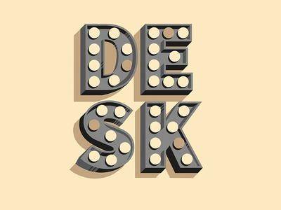 Sticker for Desk Cowork coworking illustration shadows type lights desk