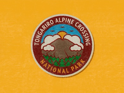 Outdoor Badge Challenge outdoors park thicklines icon logo mountain badge