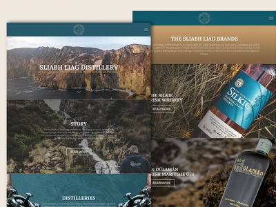 Sliabh Liag Distillery websites web design ux website drink distillery whiskies whiskey