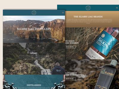 Sliabh Liag Distillery websites web design ux website drink distillery whiskies whiskey
