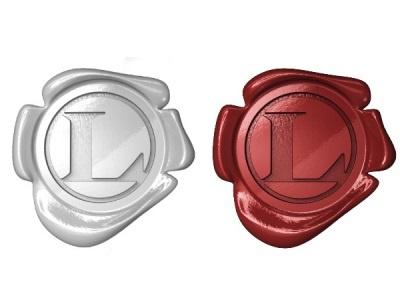 Loocas logo loocas red plastic white 3d render mousek