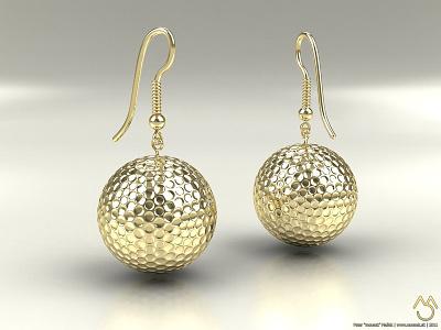 Golf earring render golf earring 3d