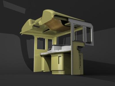 Train interior - concept concept train interior 3d render