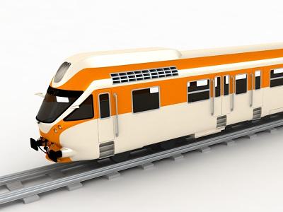 Train train 3d exterior concept render