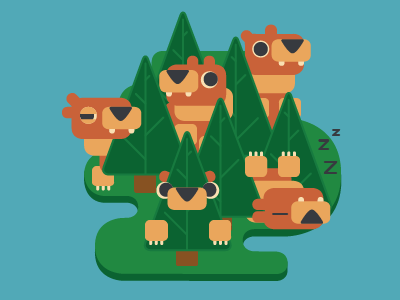 Bear Woods by Robin Griffiths | Dribbble | Dribbble