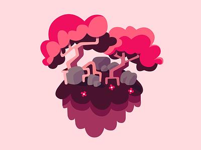 Cherry Blossom cherry blossom flat design vector pink environment