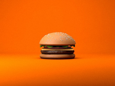 3D Burger color food burger render visual design c4d